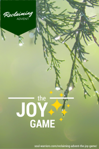 Want more joy in your life? Try playing the joy game for a week.