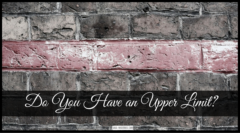 Do you have what author Gay Hendricks calls an upper limit problem? So many of us do - we experience too much bliss & do something to bring ourselves down. Read more at http://www.soul-warriors.com/do-you-have-an-upper-limit/
