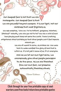 Return To Love Printable Quotes