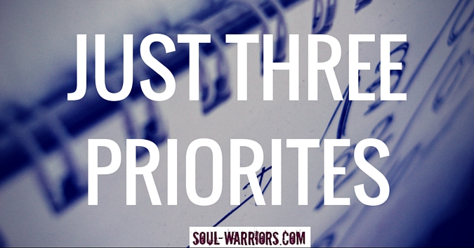 Just 3 Priorities