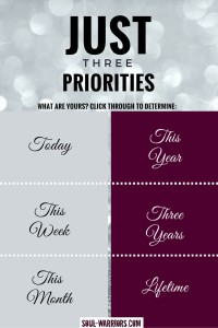 Just three Priorities
