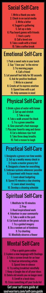 60 Simple Self-Care Ideas