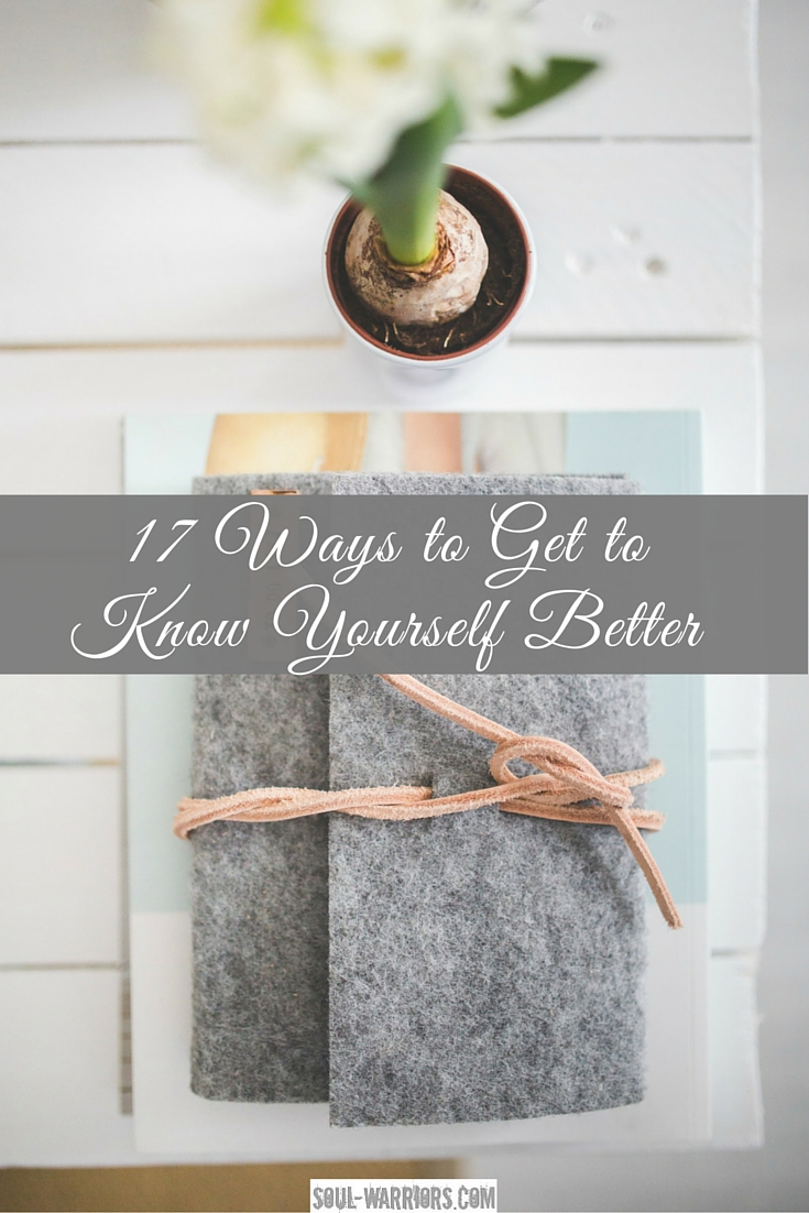 A full list of resources - including links to learn more and take quizzes - to get to know yourself better. Includes a downloadable bonus guide. Check it out at http://www.soul-warriors.com/17-ways-to-get-to-know-yourself-better