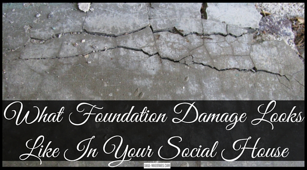 """When we have foundation damage in our """"social house"""" it can show up in ways we are not expecting. click through to http://www.soul-warriors.com/what-foundation-damage-looks-like-in-your-social-house to read Samuel's example of foundation damage."""