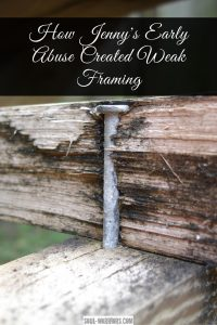 Learn how Jenny healed the weak framing in her social house that resulted from early abuse and learned to live with healthy desire and a life that fit her. Read the post at http://www.soul-warriors.com/jennys-early-abuse-created-weak-framing/